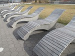 Lounge Chairs.  If only you could adjust the seat back.