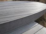 Spiffy wooden platform.