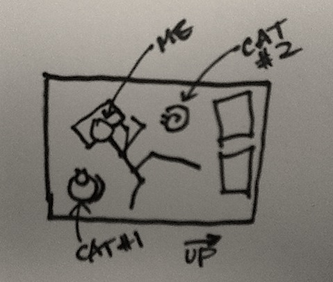 cat bed diagram